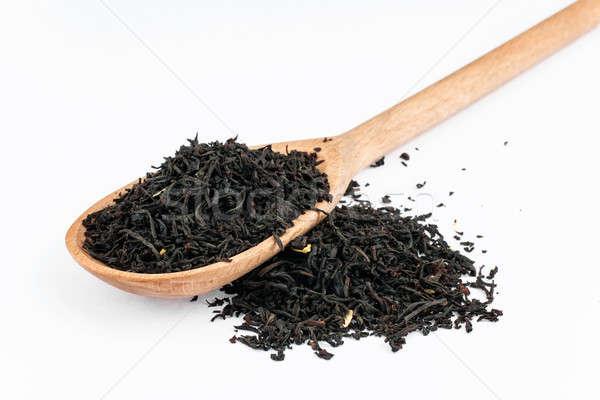 черный чай белый цветы текстуры Сток-фото © alekleks