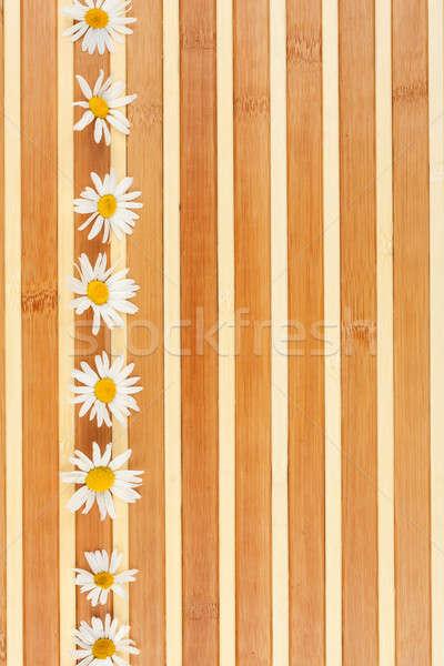 camomile are on bamboo mat Stock photo © alekleks