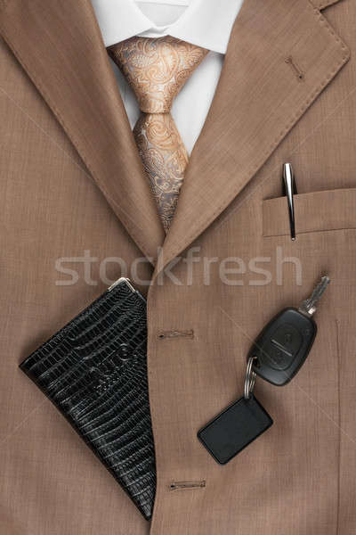 rights lying on the suit and tie Stock photo © alekleks
