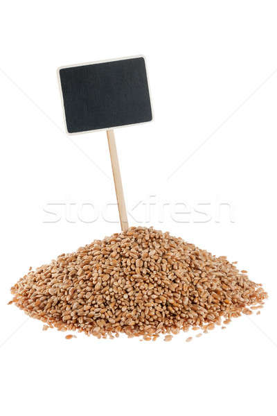 Heap of  wheat  with a pointer for your text Stock photo © alekleks