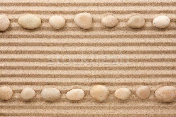 два белый камней песок пространстве Сток-фото © alekleks
