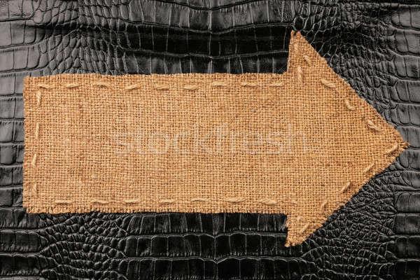 Flèche toile de jute mensonges crocodile peau lieu Photo stock © alekleks