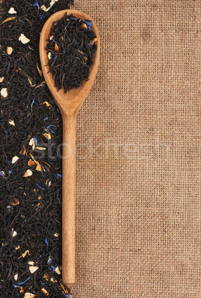 Spoon with black tea Stock photo © alekleks