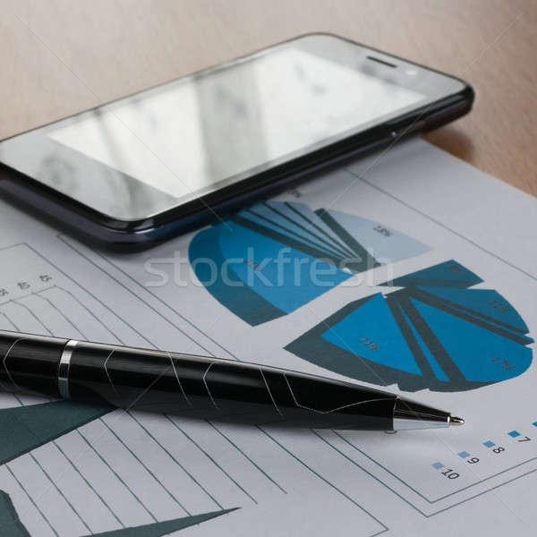Caneta traçar negócio dinheiro fundo Foto stock © alekleks