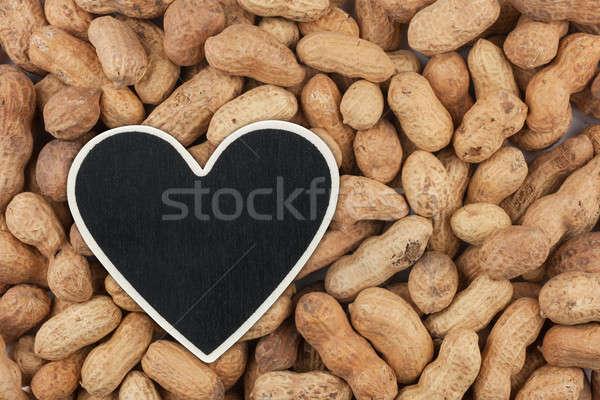 Hart prijs tag pinda ruimte Stockfoto © alekleks