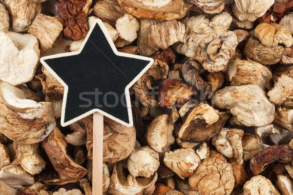 Teken gedroogd champignon ruimte vruchten Stockfoto © alekleks