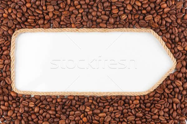 веревку кофе белый пространстве продовольствие кадр Сток-фото © alekleks