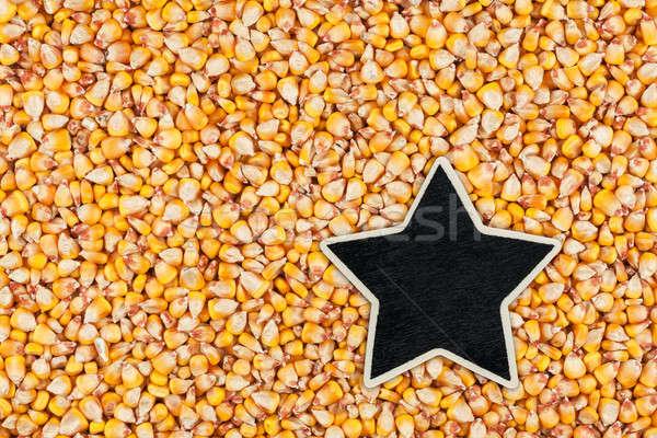 Star, pointer, price, tag, lies on  corn Stock photo © alekleks