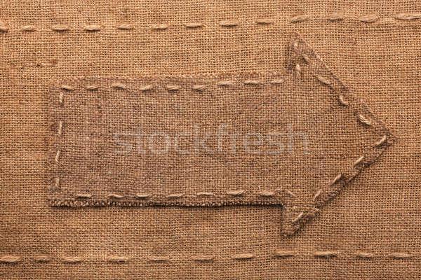 Pano de saco lugar assinar tecido retro escuro Foto stock © alekleks
