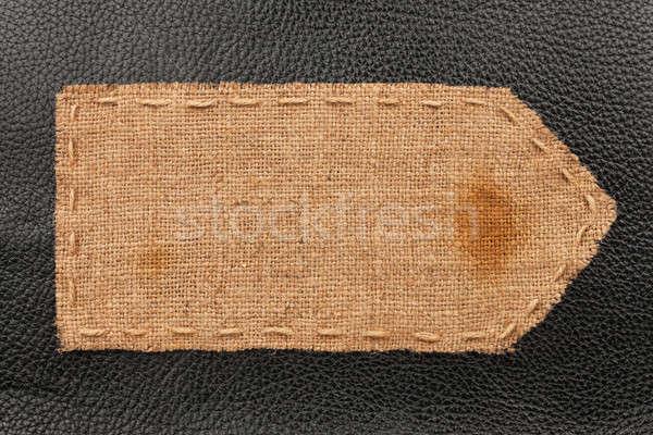 Flèche toile de jute mensonges cuir lieu fond Photo stock © alekleks
