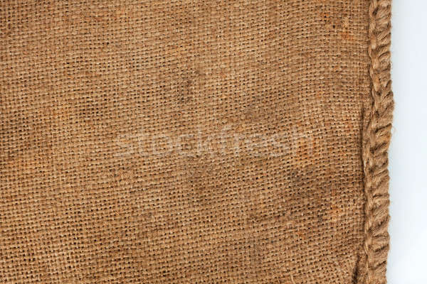 Rough seam on an old burlap Stock photo © alekleks