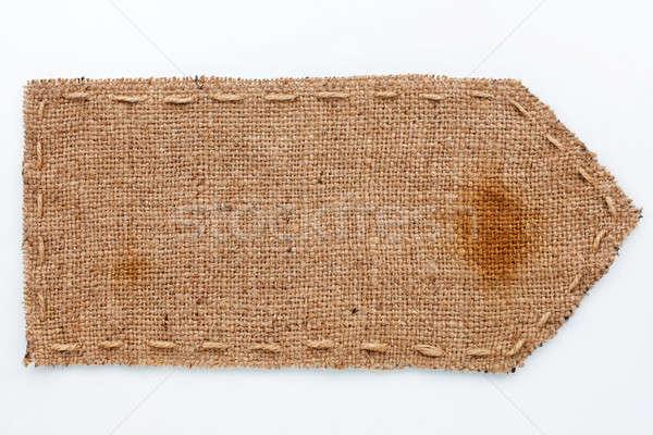 Seta pano de saco mentiras branco lata usado Foto stock © alekleks