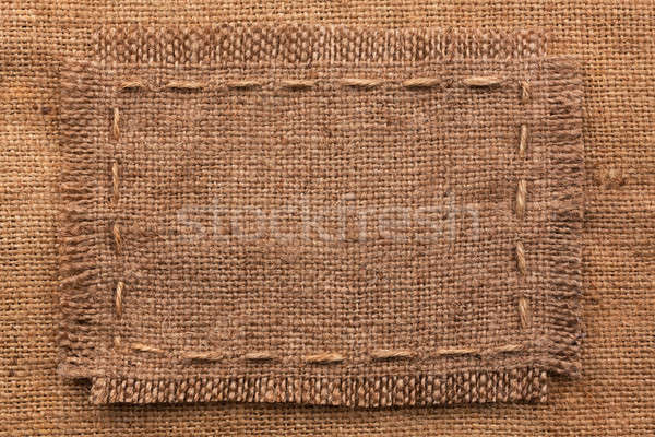 Frame of burlap, lies on a background of burlap Stock photo © alekleks
