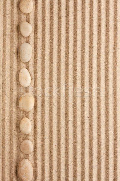Branco pedras mentir areia lata usado Foto stock © alekleks