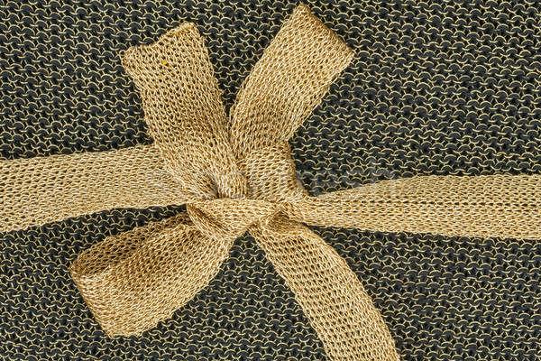лук ткань золото черный дизайна фон Сток-фото © alekleks