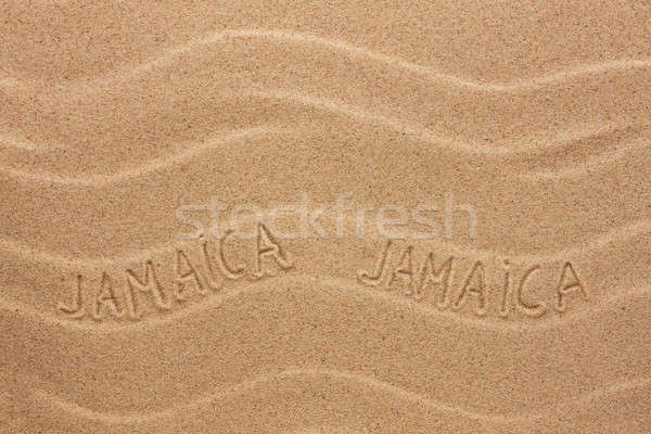 Jamaica ondulado areia textura festa Foto stock © alekleks