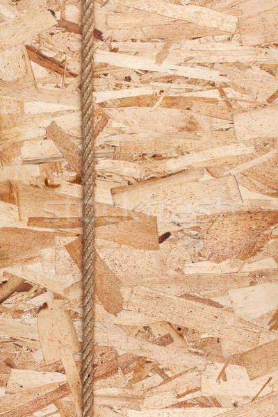 Rope lying on oriented strand board Stock photo © alekleks