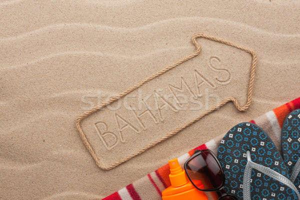 Багамские острова пляж песок вечеринка морем Сток-фото © alekleks