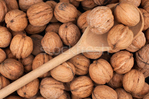 Cuchara de madera tres textura naturaleza salud fondo Foto stock © alekleks