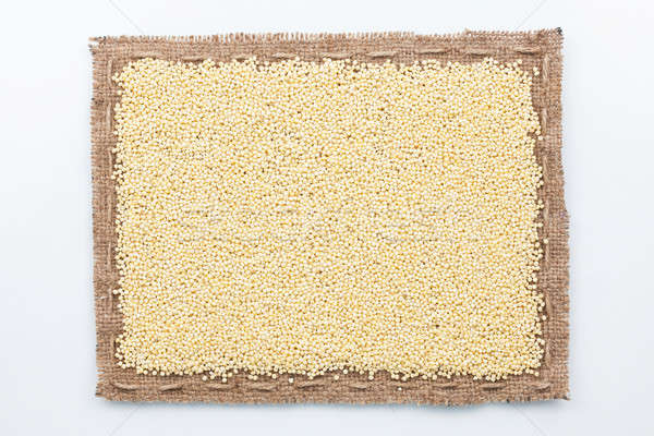 Frame of burlap and millet grain Stock photo © alekleks