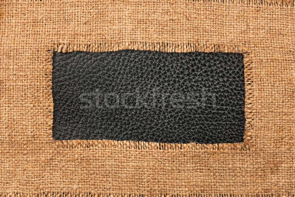Frame jute leder plaats abstract Stockfoto © alekleks