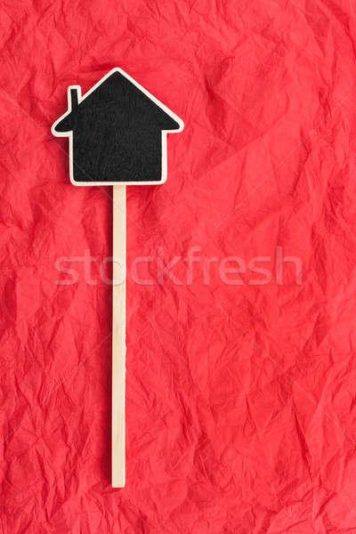 Casa espaço texto mentiras vermelho textura Foto stock © alekleks