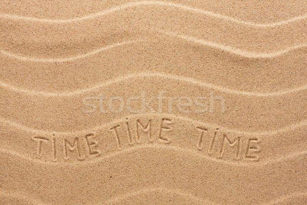 時間 碑文 波状の 砂 ビーチ パーティ ストックフォト © alekleks
