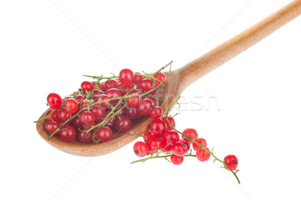 Wooden spoon with red currant  Stock photo © alekleks