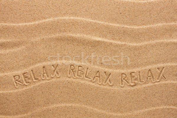Relaxar ondulado areia praia festa Foto stock © alekleks