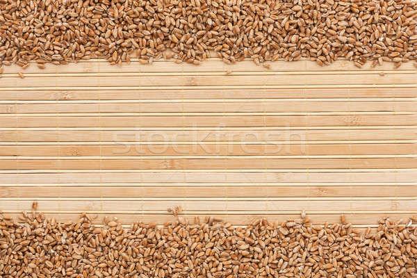wheat on a bamboo mat  Stock photo © alekleks