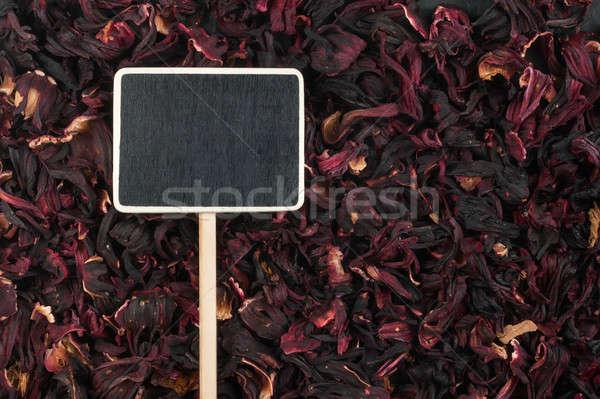 Fiyat etiket lies ebegümeci uzay çiçek Stok fotoğraf © alekleks
