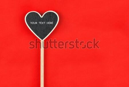 Szív űr szöveg hazugságok kék szeretet Stock fotó © alekleks