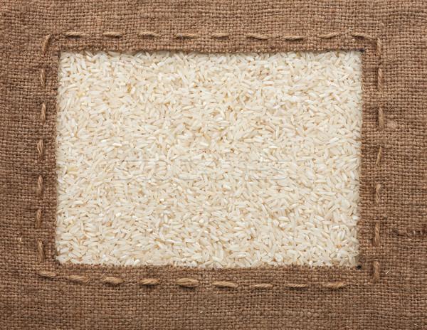 Ramki konopie line leży ryżu Zdjęcia stock © alekleks