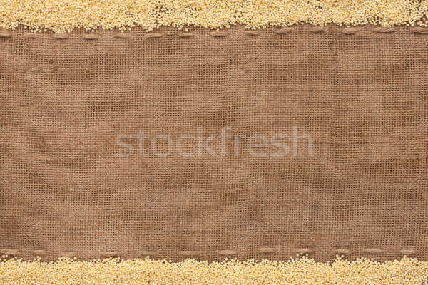 Millet  lying on sackcloth  Stock photo © alekleks
