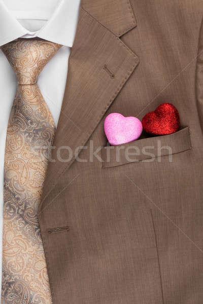 2 中心 外に ポケット ジャケット 背景 ストックフォト © alekleks
