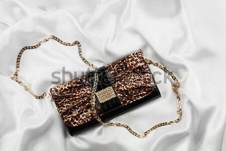 Gyönyörű fehérnemű táska lánc űrlap szív Stock fotó © alekleks