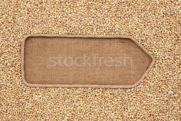 Kötél magvak gyöngy árpa űr étel Stock fotó © alekleks