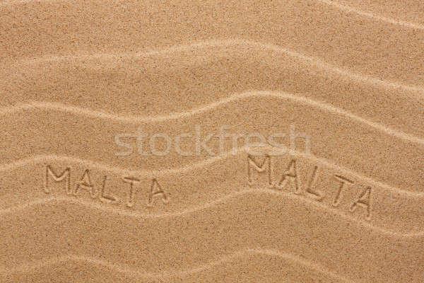 Malta opschrift golvend zand textuur partij Stockfoto © alekleks