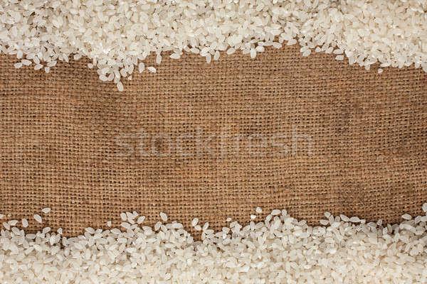 Riz toile de jute peuvent utilisé nature santé Photo stock © alekleks