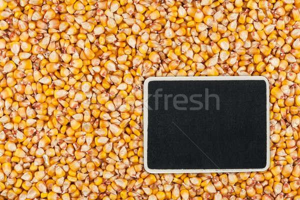 Precio etiqueta mentiras maíz espacio textura Foto stock © alekleks