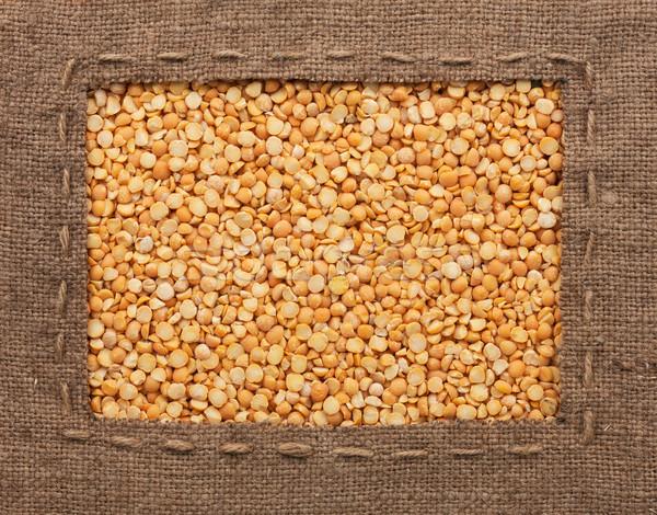 フレーム 黄麻布 行 嘘 穀類 することができます ストックフォト © alekleks