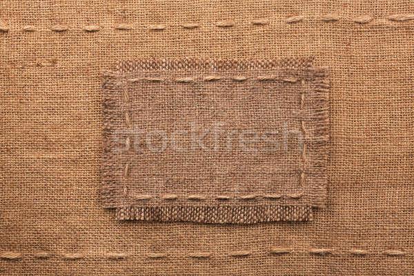Keret zsákvászon hazugságok hely textúra kávé Stock fotó © alekleks