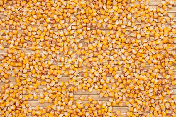 Background of corn  lying on a bamboo mat Stock photo © alekleks