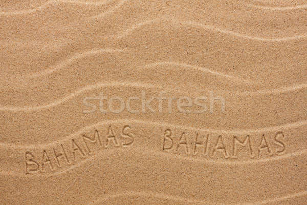 Bahamas inscription on the wavy sand Stock photo © alekleks