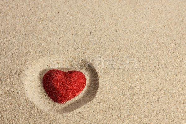 symbolic heart in the sand Stock photo © alekleks
