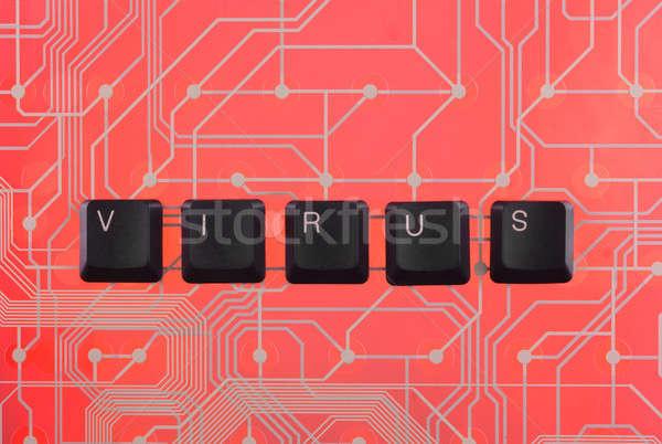 Keyboard keys laid out the word virus  Stock photo © alekleks