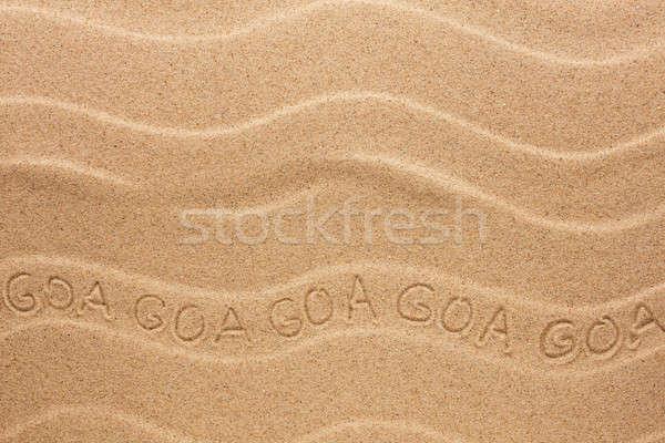 Goa ondulato sabbia spiaggia texture Foto d'archivio © alekleks