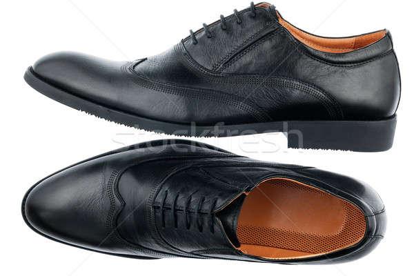 Klasszikus fekete cipők izolált fehér üzlet Stock fotó © alekleks