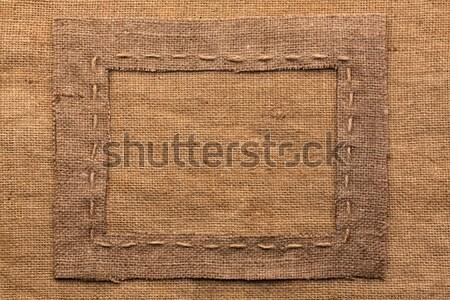 フレーム 黄麻布 嘘 木材 場所 抽象的な ストックフォト © alekleks