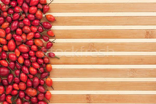 Bambusz űr textúra rózsa gyümölcs nyár Stock fotó © alekleks